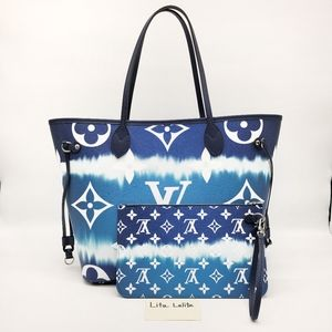 Neverfull MM LV Escale Blue with pouch